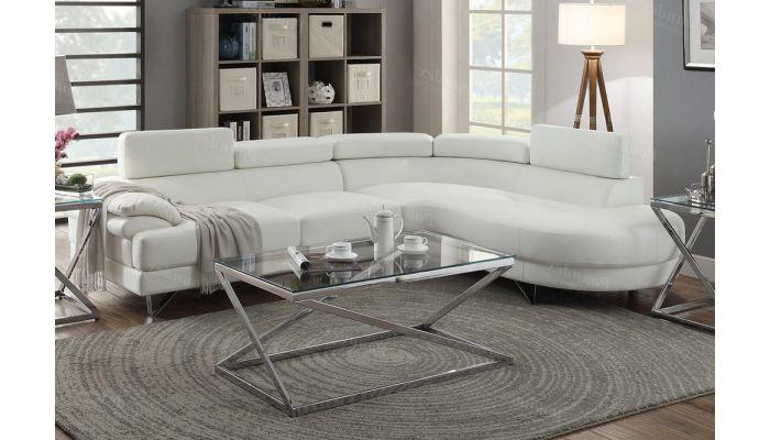 zelma white leather modern sectional sofa