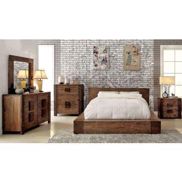 kalen rustic wood bedroom furniture
