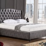 Kelly Button Tufted Leather Bed