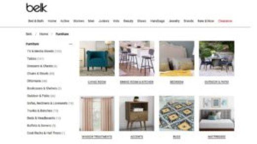 belk furniture web page