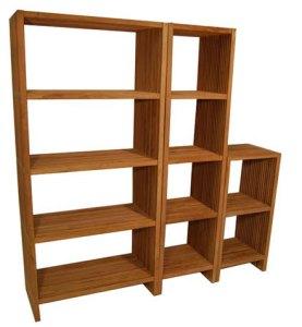 teak outdoor shelves