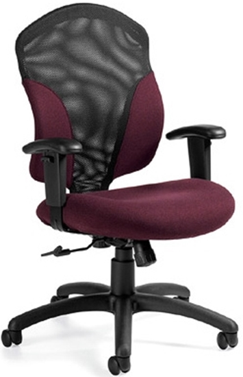 executive mesh office chair green global 1951 4 picture of