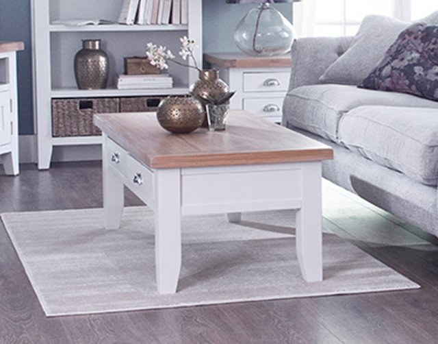 st ives white painted large coffee table furniture world