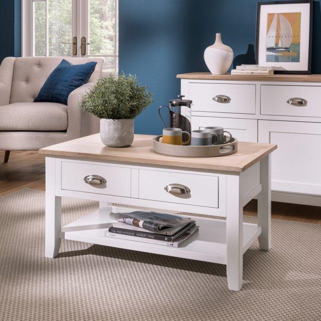 oak city nebraska oak white coffee table furniture world