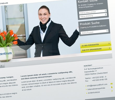 Poppe+Potthoff<br> Redesign der Website