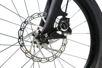 Electric folding bike hydraulic disk brakes
