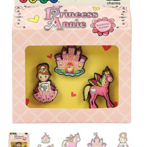 Princess Annie 3-pack Crocs Shoe Charms