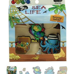 Sea Life Boys' 3-pack Crocs Shoe Charms