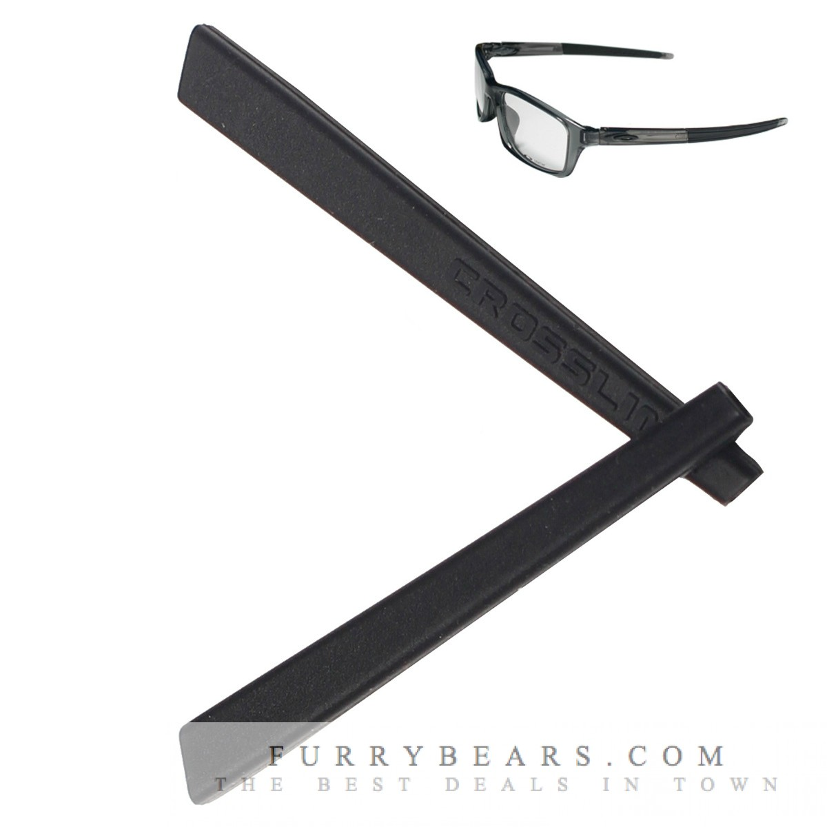 oakley glasses temple sleeves  oakley crosslink pitch black rubber