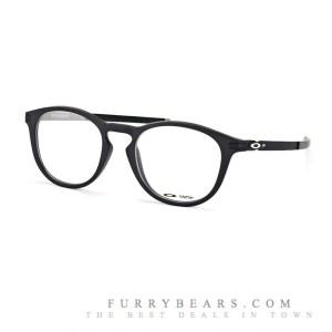 Oakley Pitchman R OX 8105 01 satin black black on silver matt