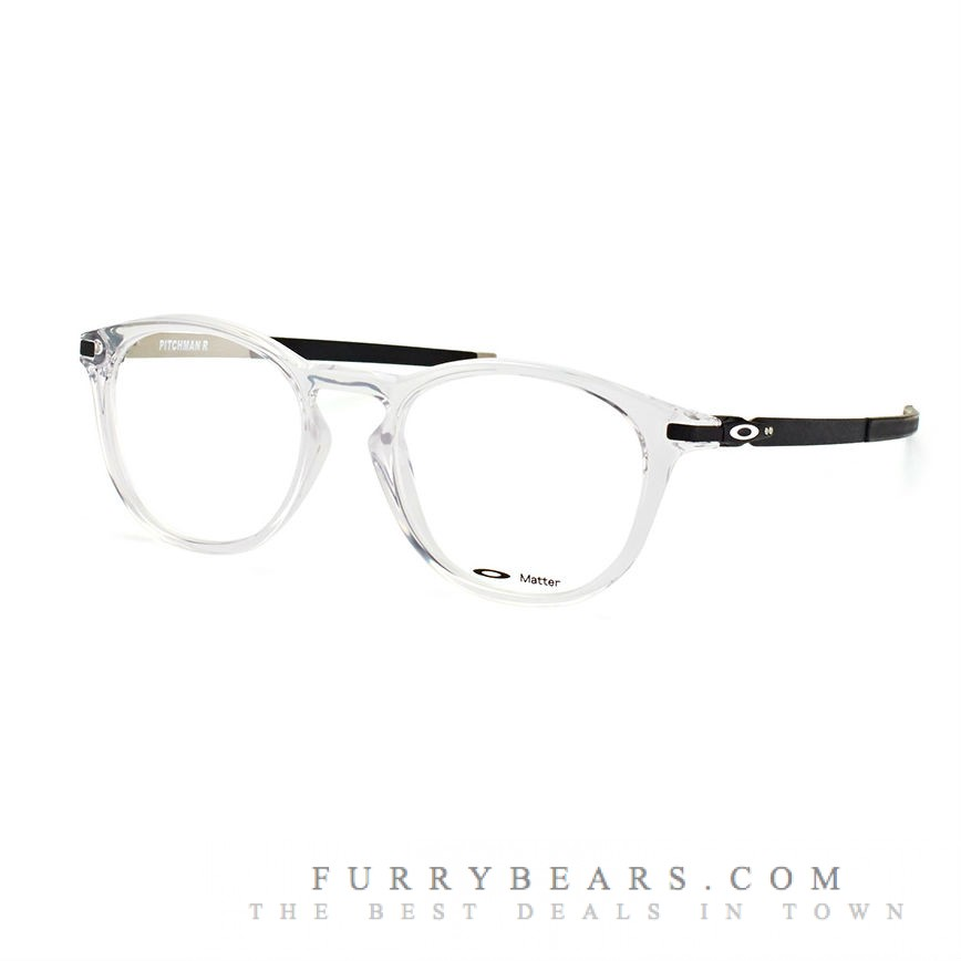 Oakley Pitchman R OX 8105 04 clear black on silver