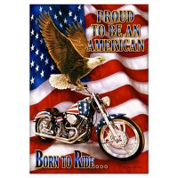 Born To Ride - Patriotic Eagle - Motorcycle - Furrypartners