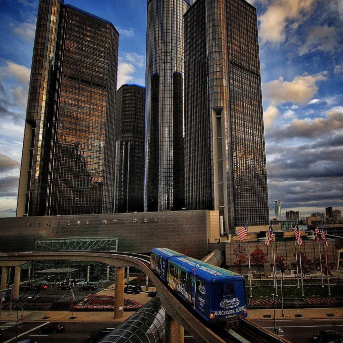 Downtown Detroit Cityscape