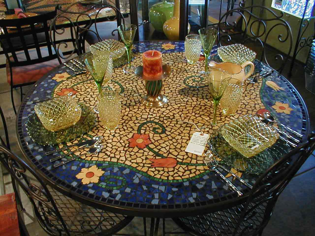 Mosaic Tile Dining Tables