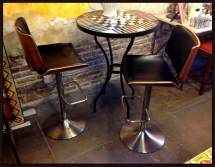 Furthur Wrought Iron Chairs Wood Dining And Benches