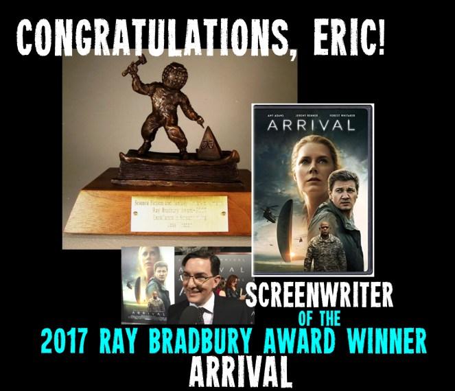 2107 SFWA Nebula Awards Ray Bradbury Award Winner, ARRIVAL, screenplay by Eric Heisserer