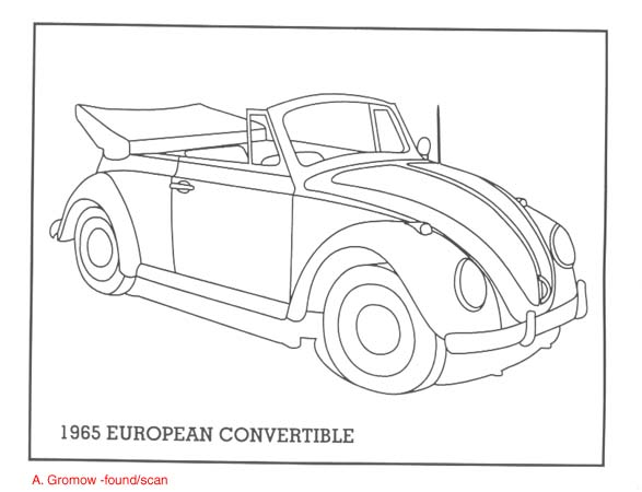 vw bug colouring pages (page 2)