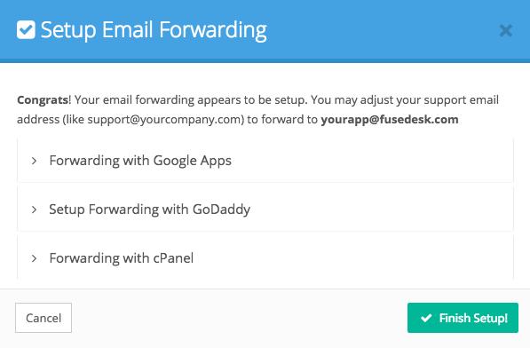 Enable Email Forwarding in FuseDesk