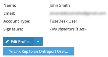 Link an Ontraport User to a FuseDesk Rep