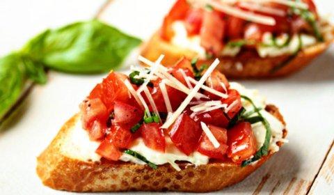 garlic tomato brushetta