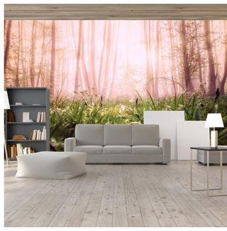 bring nature into your living room at a forest floor level wallpaper mural design on luxury paper