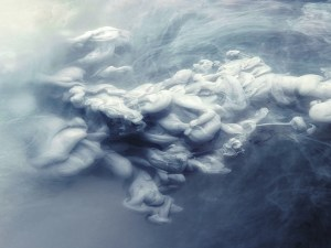 ghost cloud water art mural wallpaper