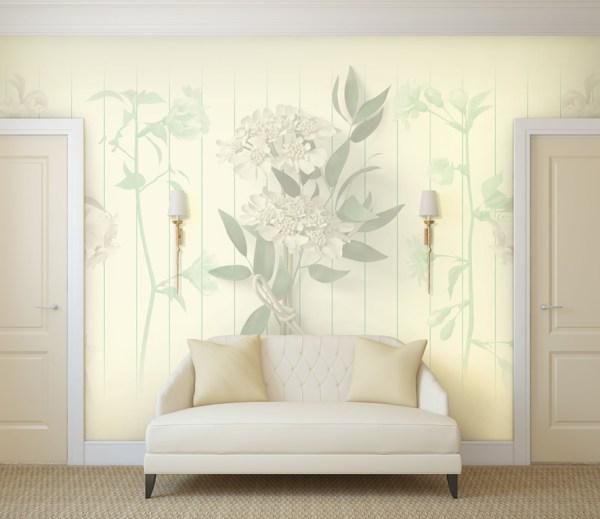floral wallpaper mural design