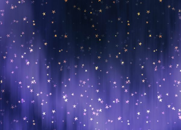 Aurora stars mural wallpaper design
