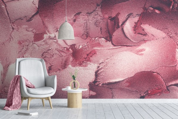 red abstract wall paper mural