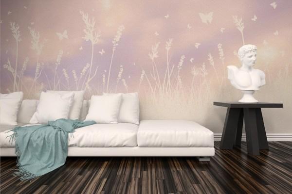 light wallpaper butterfly field