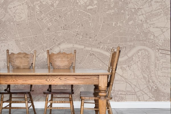 Vintage map of London wallpaper