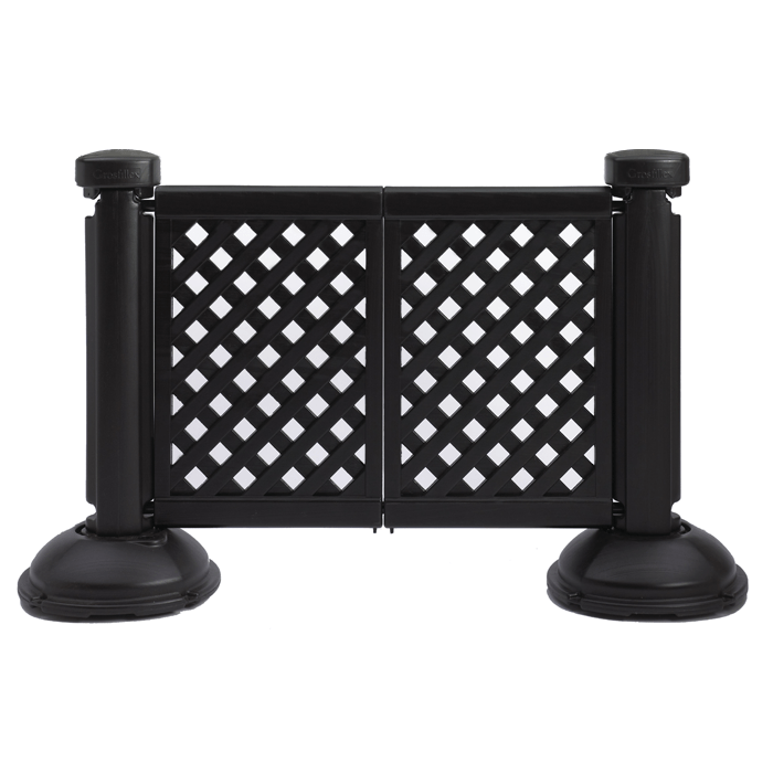 portable patio fence 2 panel section
