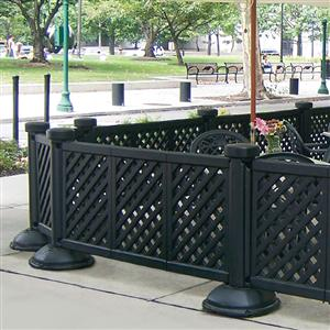 portable patio fence single post with base