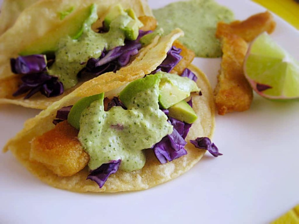 Baja Fish Tacos with Creamy Jalapeño Sauce, aka Chuy' Crack