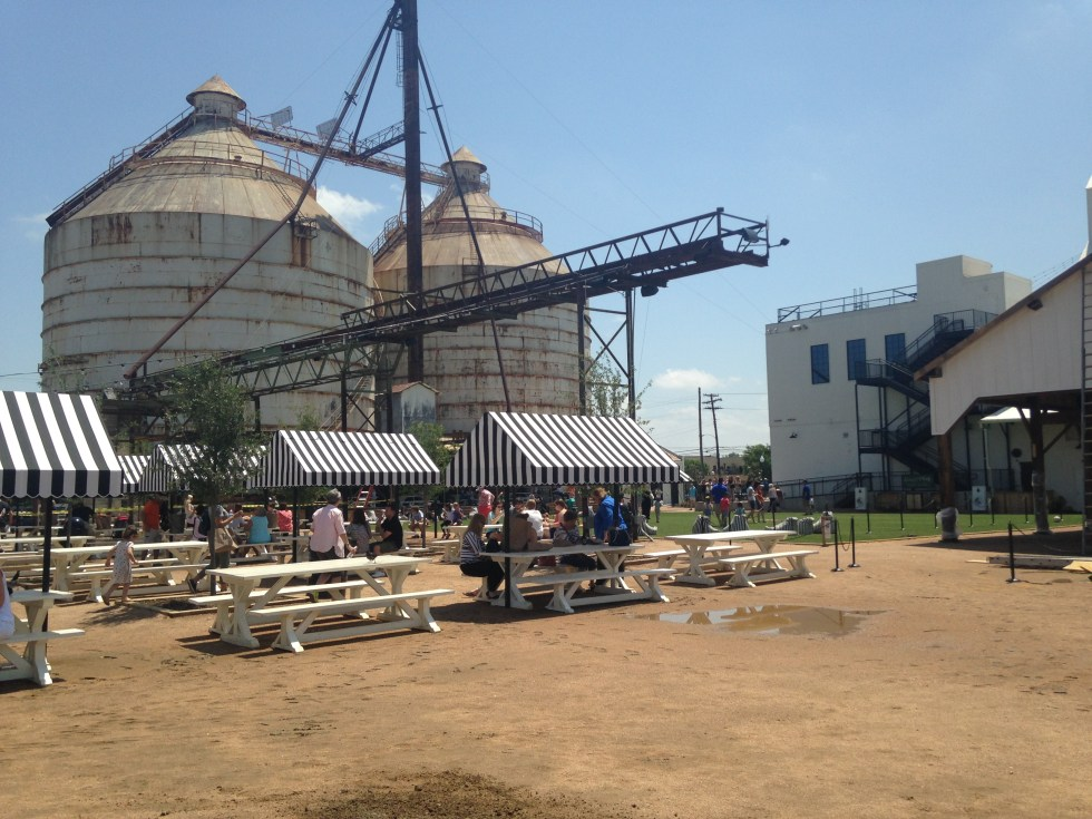 The silos at Magnolia Market in Waco, Texas.