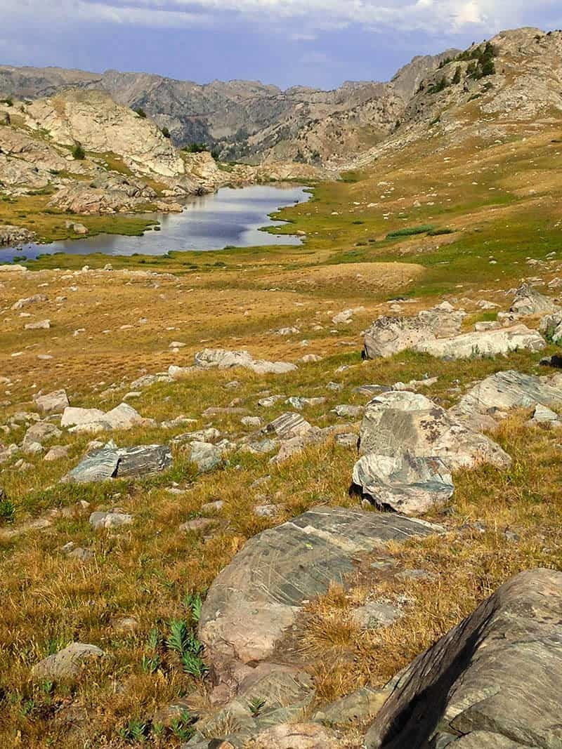 High altitude lake in The Wind River Range Wyoming