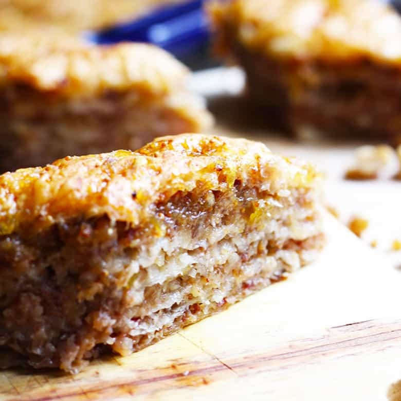 Easy Baklava Recipe With Walnuts, Dates & Fig Jam
