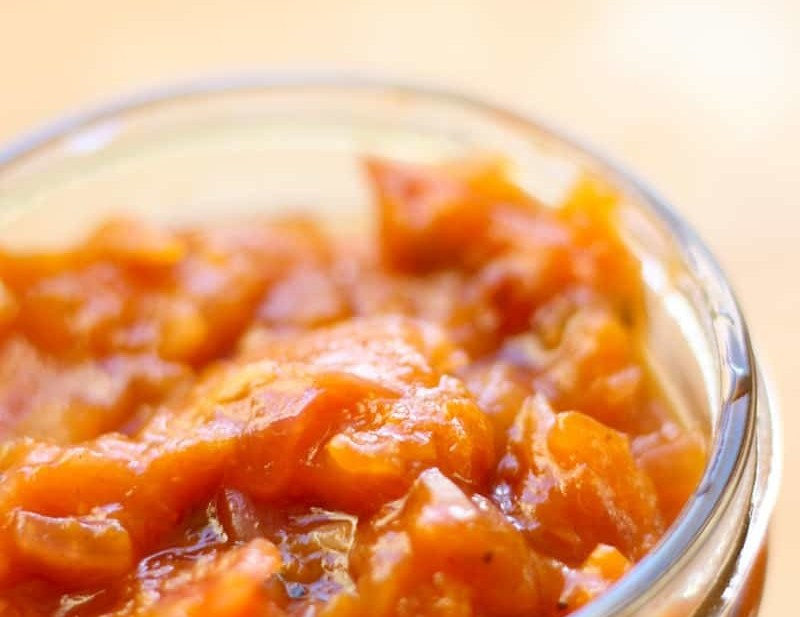 Quick Apricot Chutney Recipe. A super easy and quick chutney recipe that cooks up in just a few minutes. Apricots and brown sugar offer a sweet contrast to red onions, ginger and Indian spices.