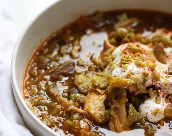 Turkey Soup with Split Peas and Smoked Paprika