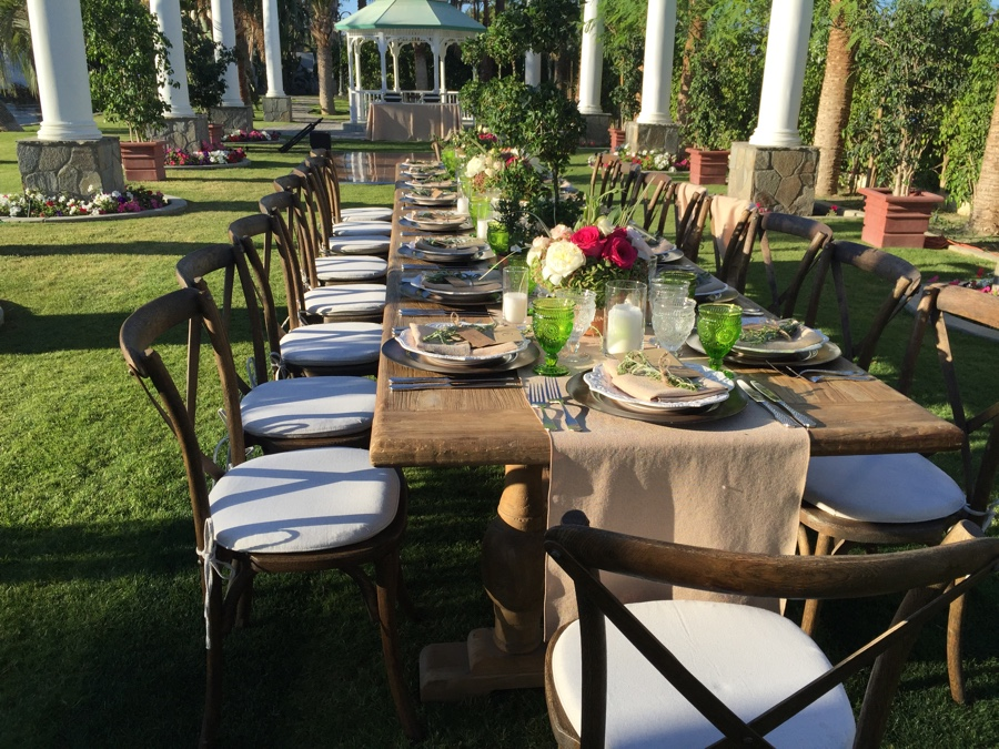 Outdoor wedding palm springs