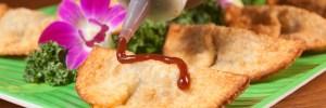 empanada with fresh sauce appetizer