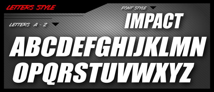 Font Styles  Fusion Graphix LLC