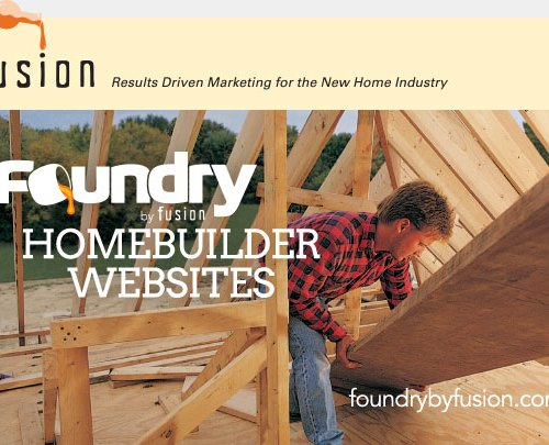 Blog Post Thumbnail for FUSION TEAM LAUNCHES FOUNDRY— WEBSITE CREATION FOR HOMEBUILDERS