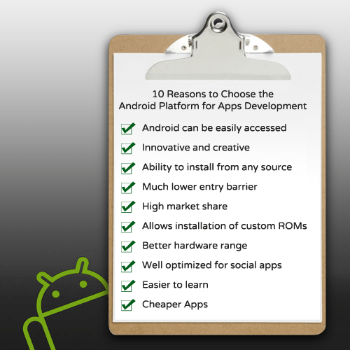 Ten Reasons to Choose the Android Platform for Apps Development
