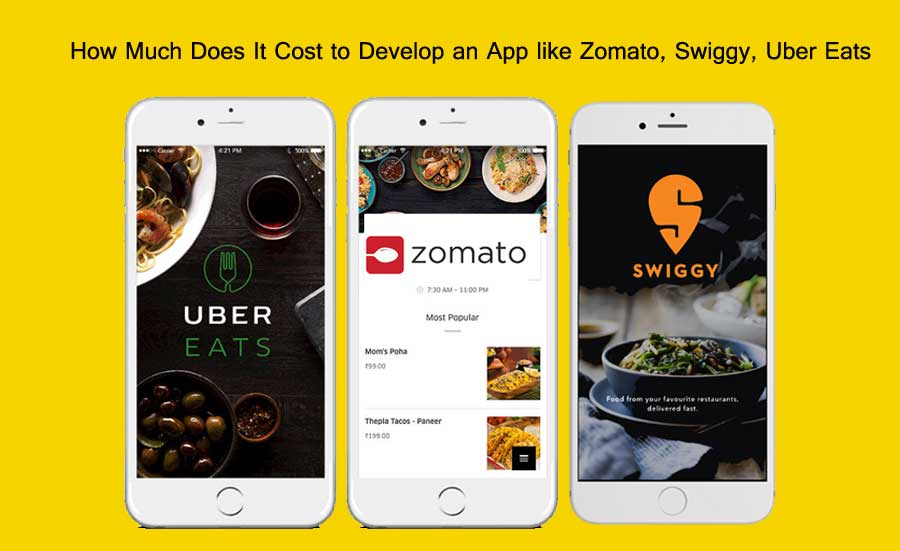 How Much Does It Cost to Develop an App like Zomato, Swiggy, Uber Eats