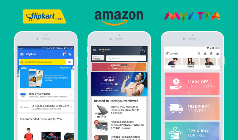 flipkart,amazon,myntra app development cost-fusion informatics