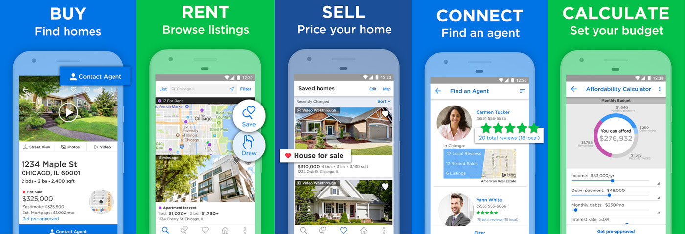 Cost to Build Real Estate App like Zillow