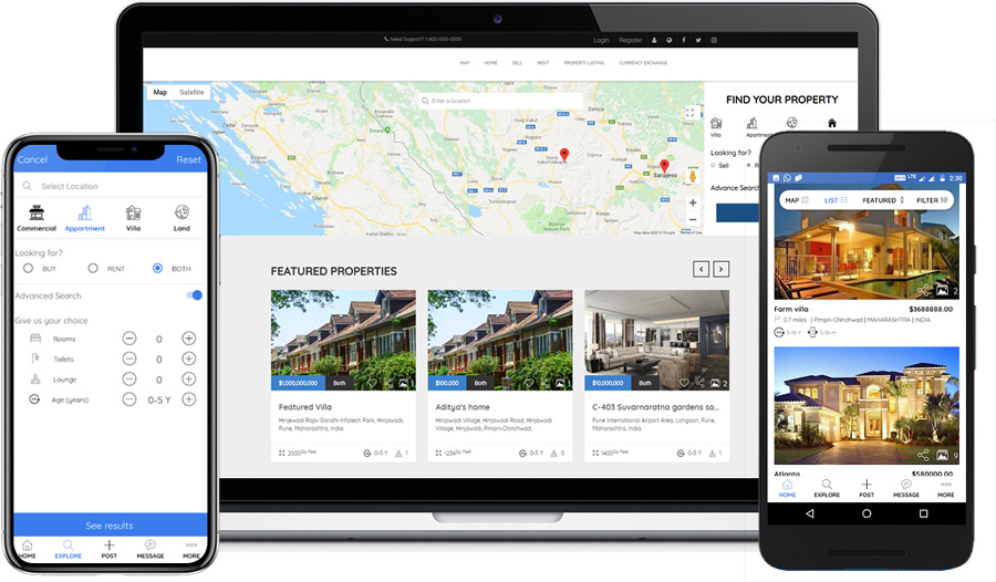 Zillow like Real Estate mobile app Development Company