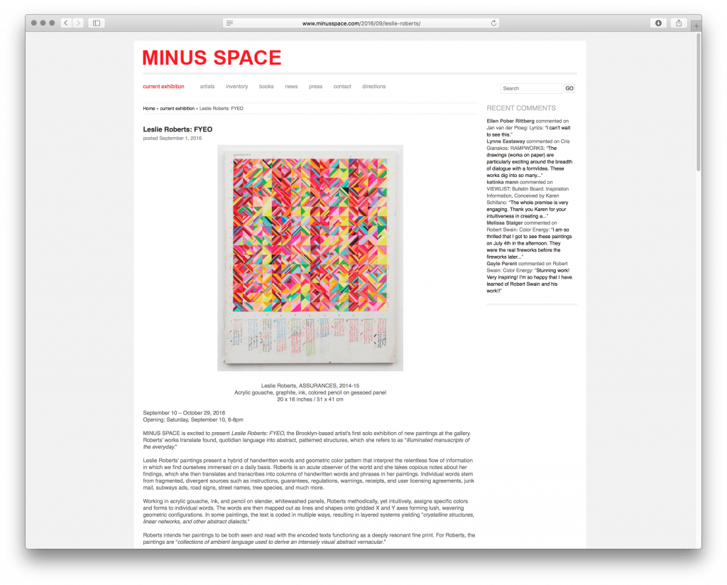 minusspace-exhibitions