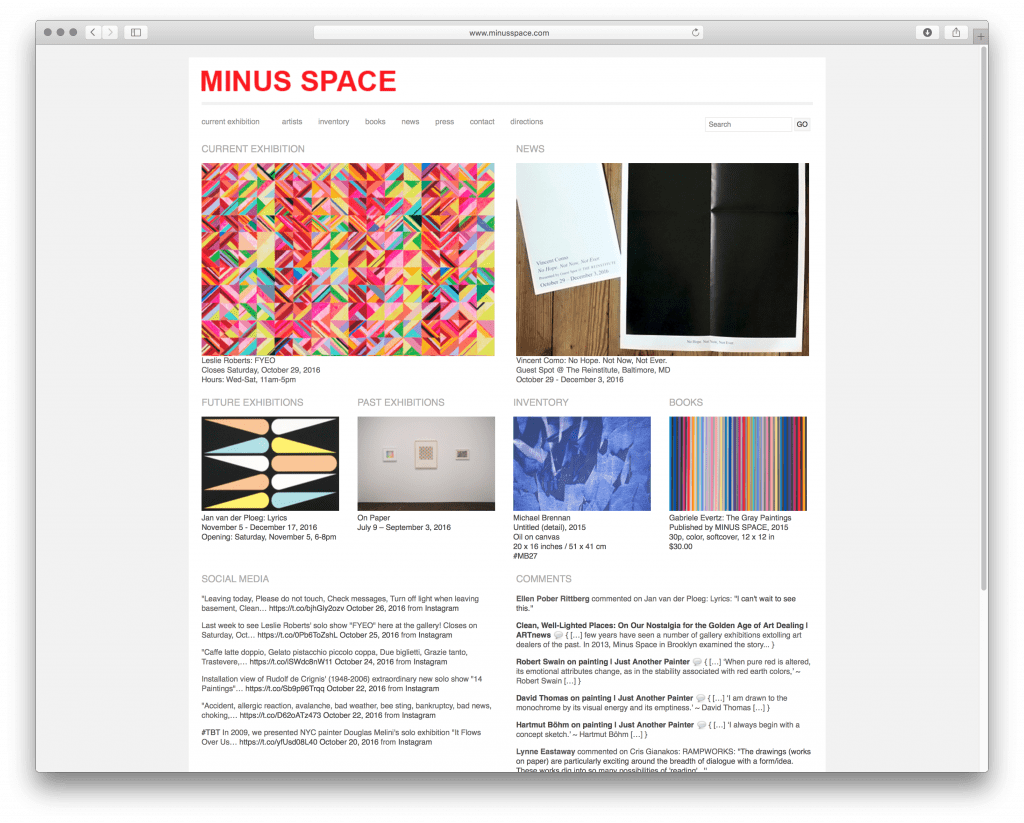 minusspace-homepage